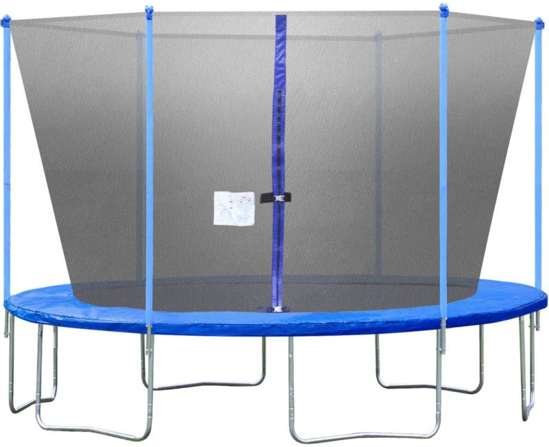bestmassage trampoline with enclosure net ladder outdoor
