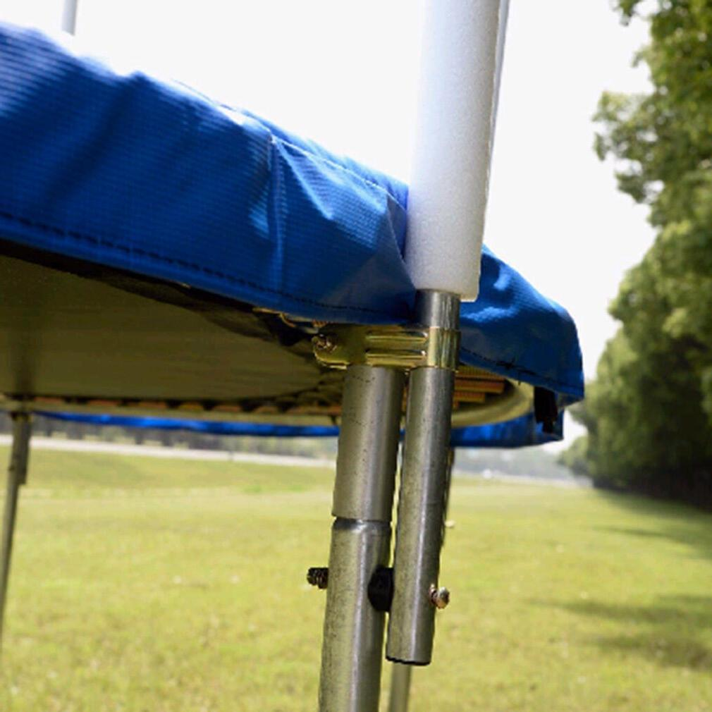 Blue, ft Trampoline With Enclosure, Ladder and Safe