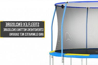 Blue 12-Foot Trampoline W & Electronic