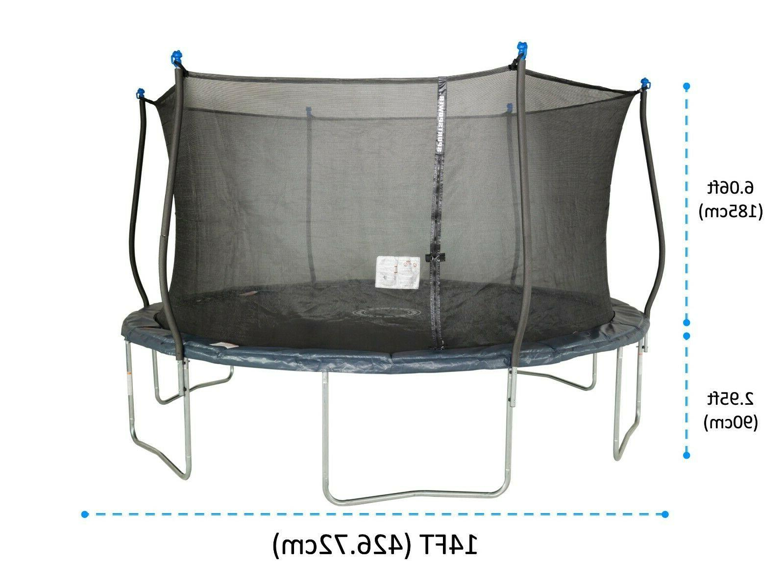 Trampoline With Enclosure Net Jump Mat