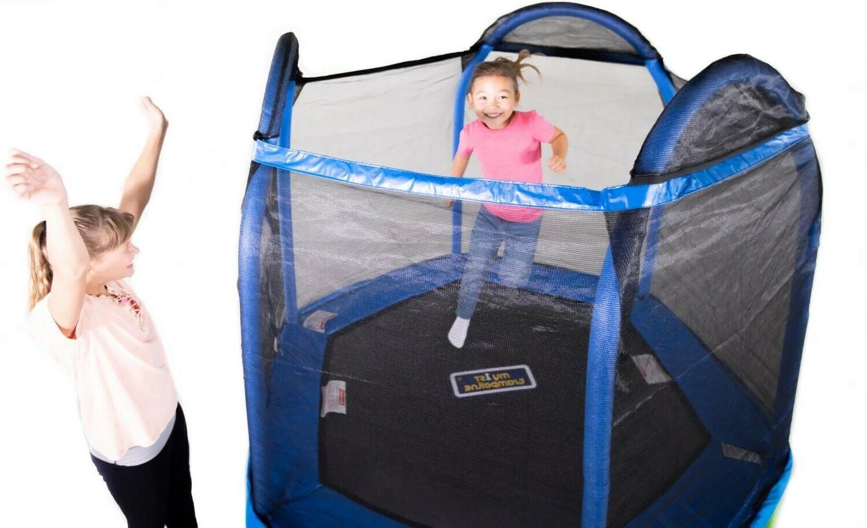 Bounce Pro 7-Foot First Hexagon Kids, Blue/Green