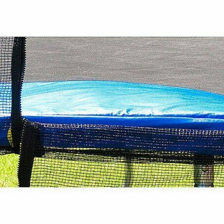 Airzone 15-Foot Trampoline, Safety Enclosure Net, Blue