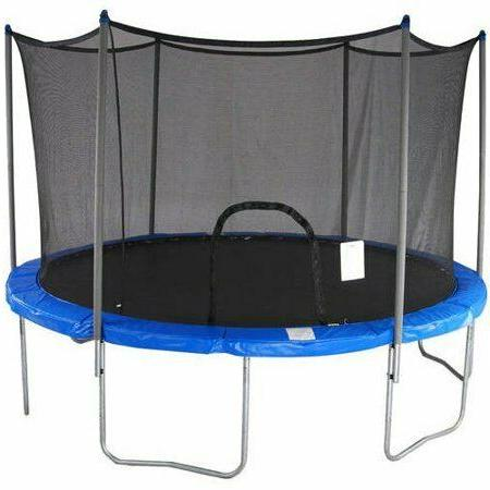 e 15 foot trampoline with safety enclosure