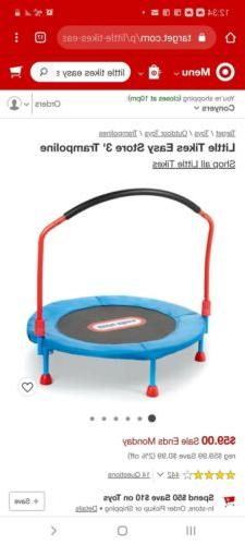 Little Tikes Easy 3 Feet Trampoline with Handle