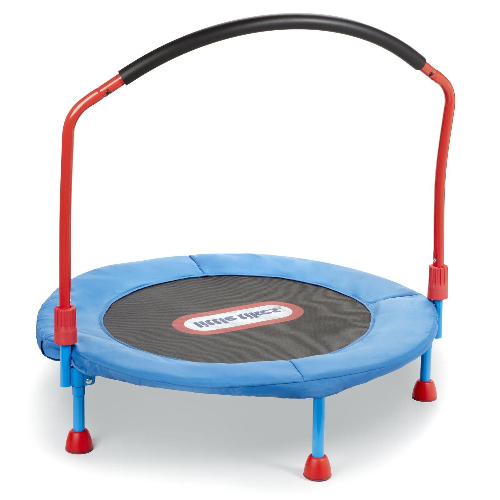 3 trampoline w hand rail and easy