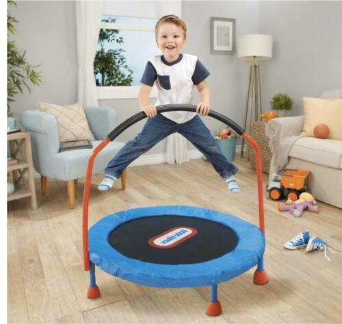 easy store 3 foot trampoline with handrail