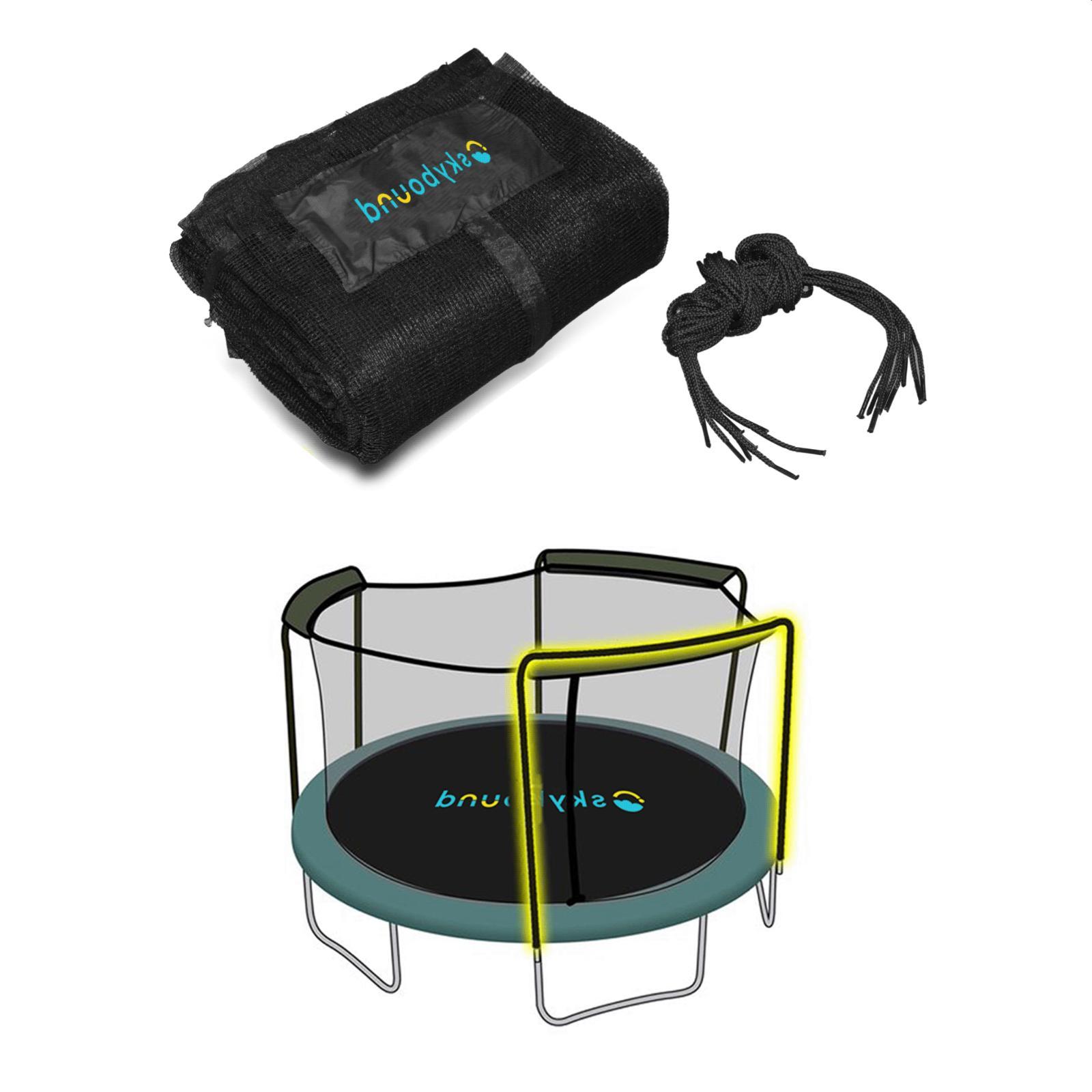 enclosure trampoline net using 3