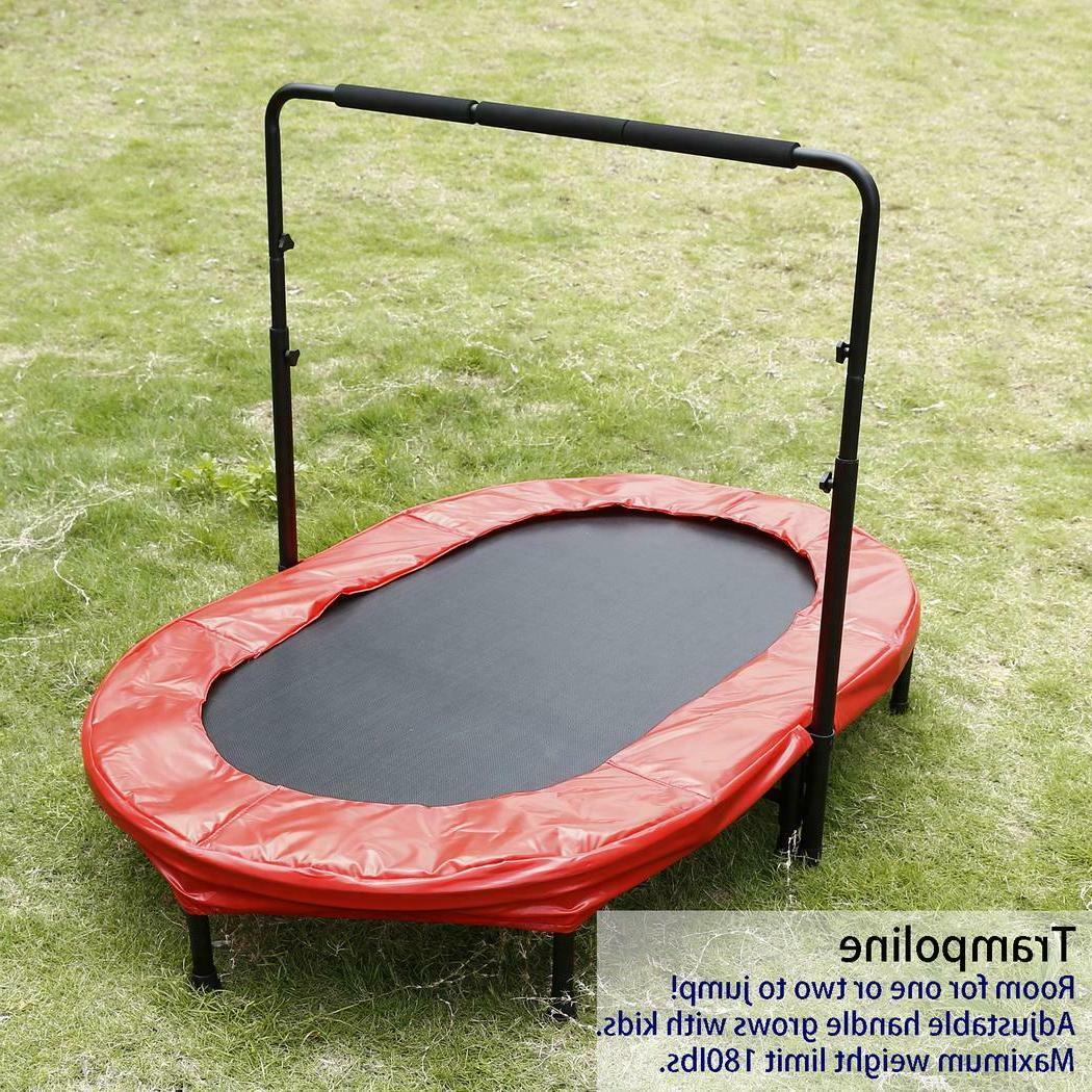 ANCHEER Foldable Rebounder Trampoline with Adjustable Handle,US