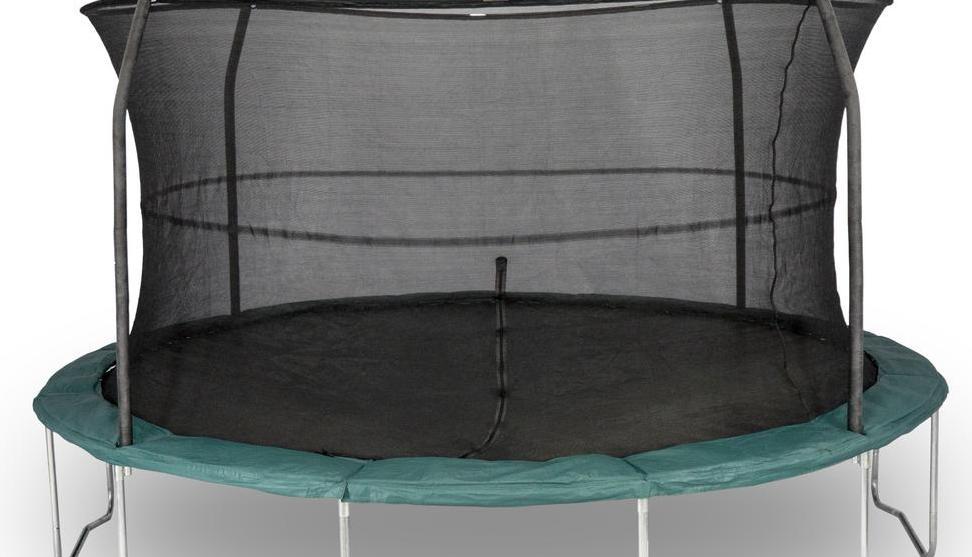 Galvanized Frame ft. Durable Trampoline Enclosure