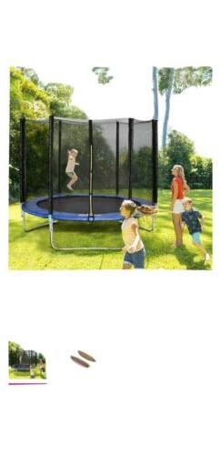 Gymax 8 Ft Trampoline Combo Bounce Jump safety enclosure net
