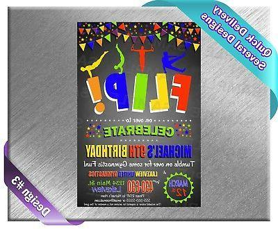 Gymnastics Party Baby Invitations