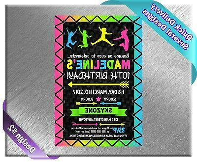 Gymnastics Party Baby Shower ~ Invitations Supplies
