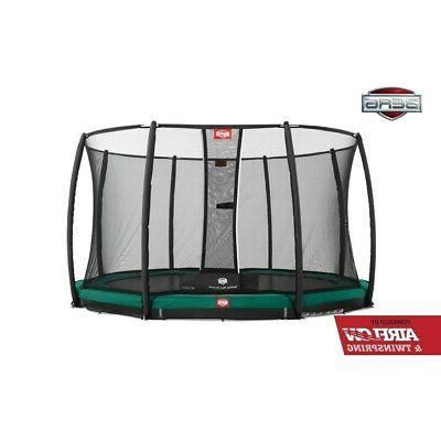 inground champion 14ft trampoline w safety net