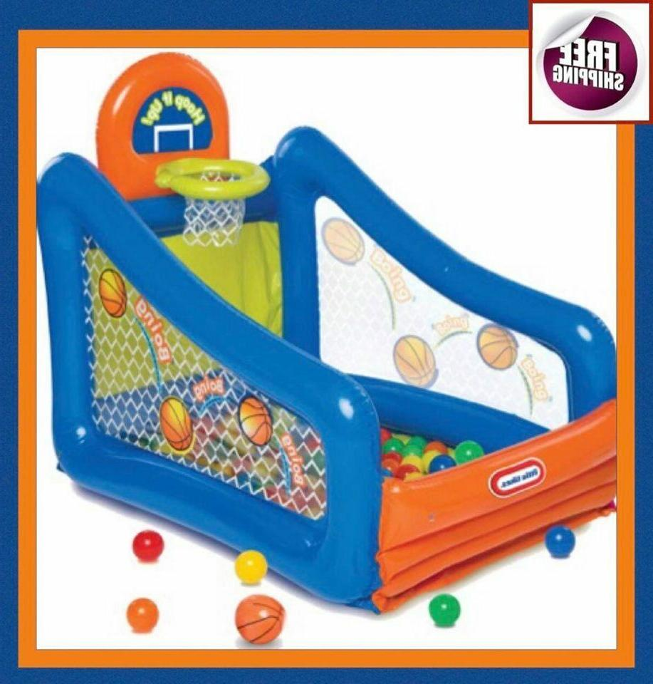jump inflatable bouncer pit ball play sport