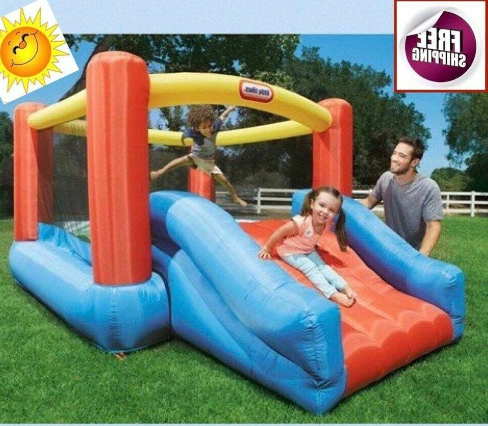 jump inflatable bouncer trampoline house slide play
