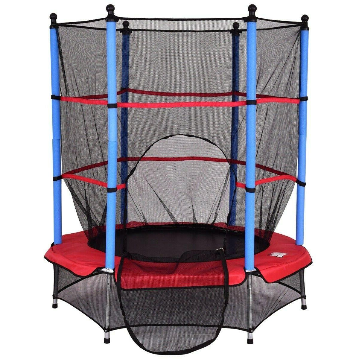 Jumping Trampoline Children Play Safety Pad Enclosure Combo
