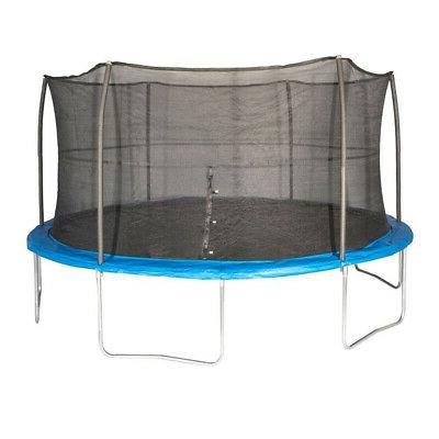 JumpKing 15 Foot Outdoor Trampoline & Safety Net Enclosure K