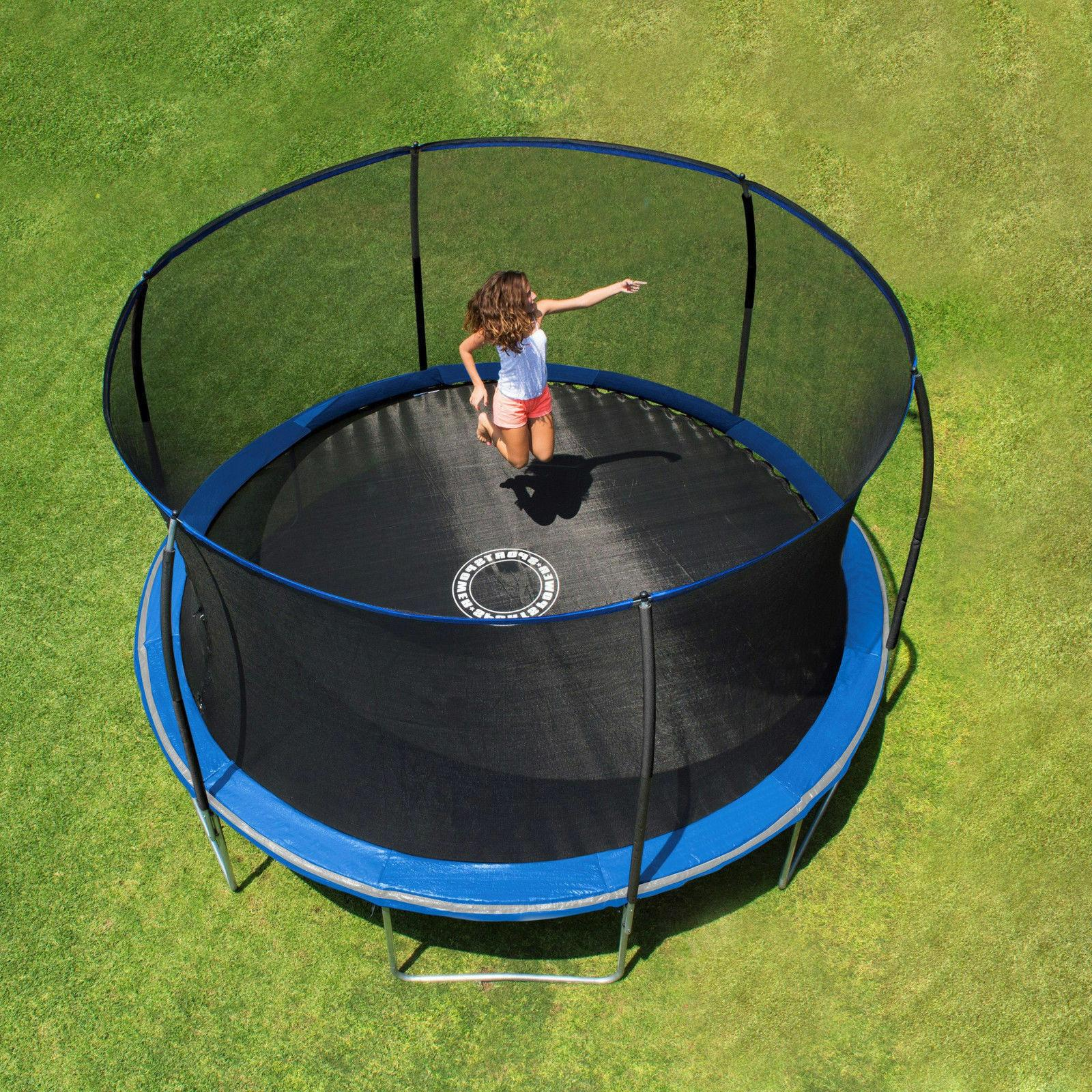 Bounce Pro 14' Trampoline, with Classic Enclosure, Blue ...