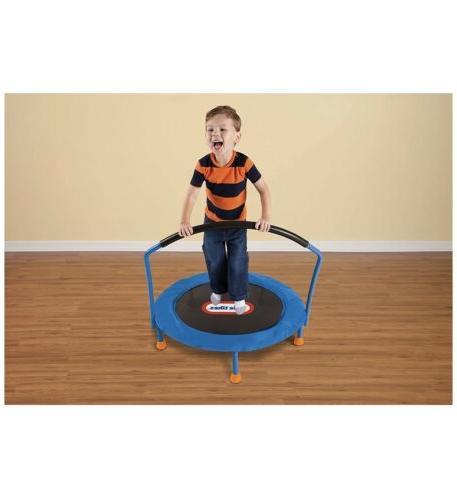 Kids Trampoline Exercise Bouncer Bouncing Fun Handle Guard