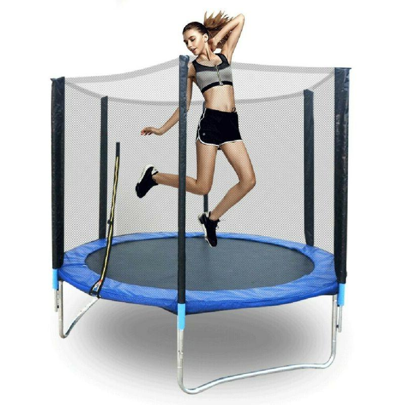 6FT Adults with Enclosure Net Outdoor Trampoline