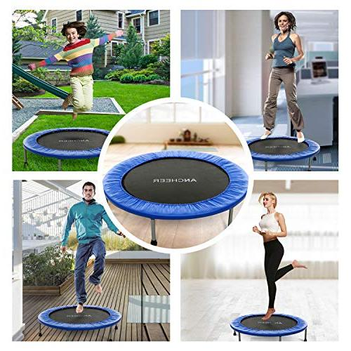 ANCHEER 220lbs Rebounder Trampoline with Pad for Workout Cardio Training