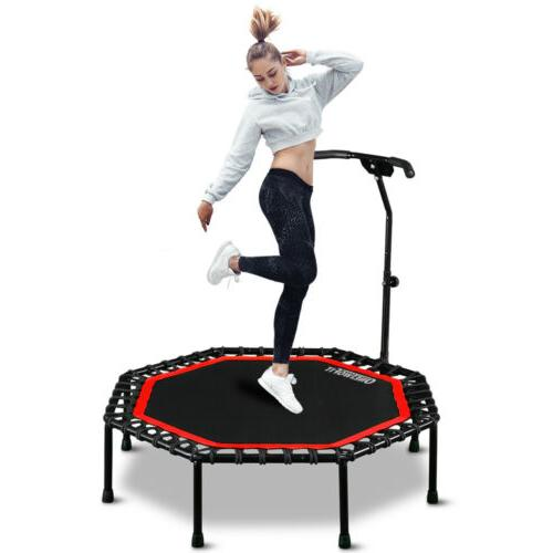 """51"""" Fitness Trampoline with Adjustable Handle Bar Cardio Tra"""