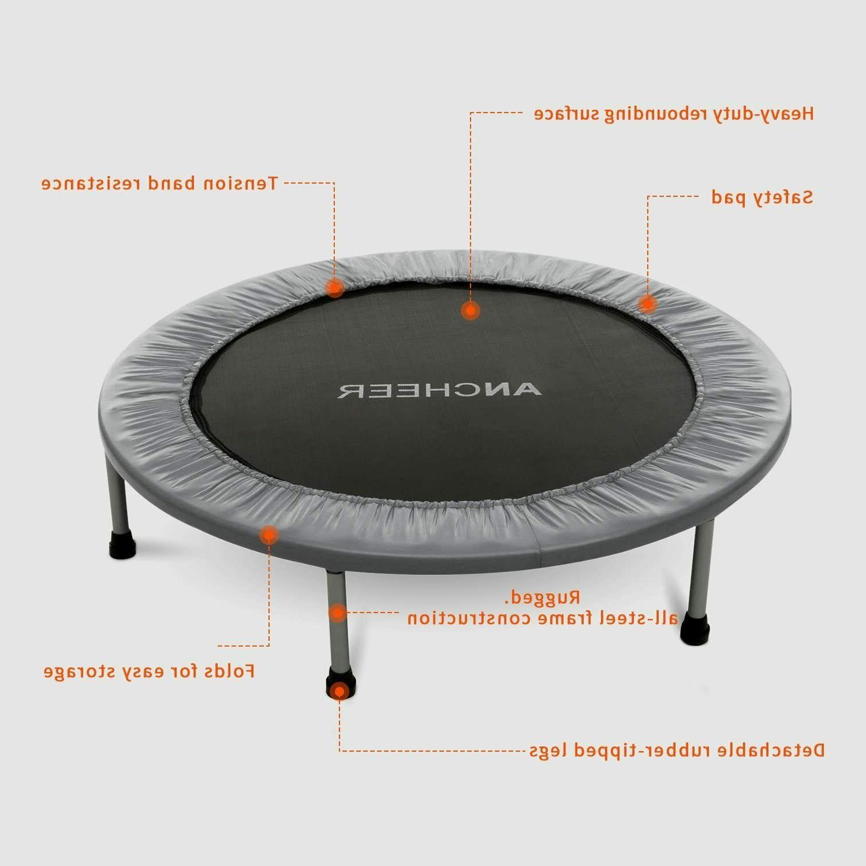 "40"" Foldable Fitness Rebounder for Kids Adults Enhanced"