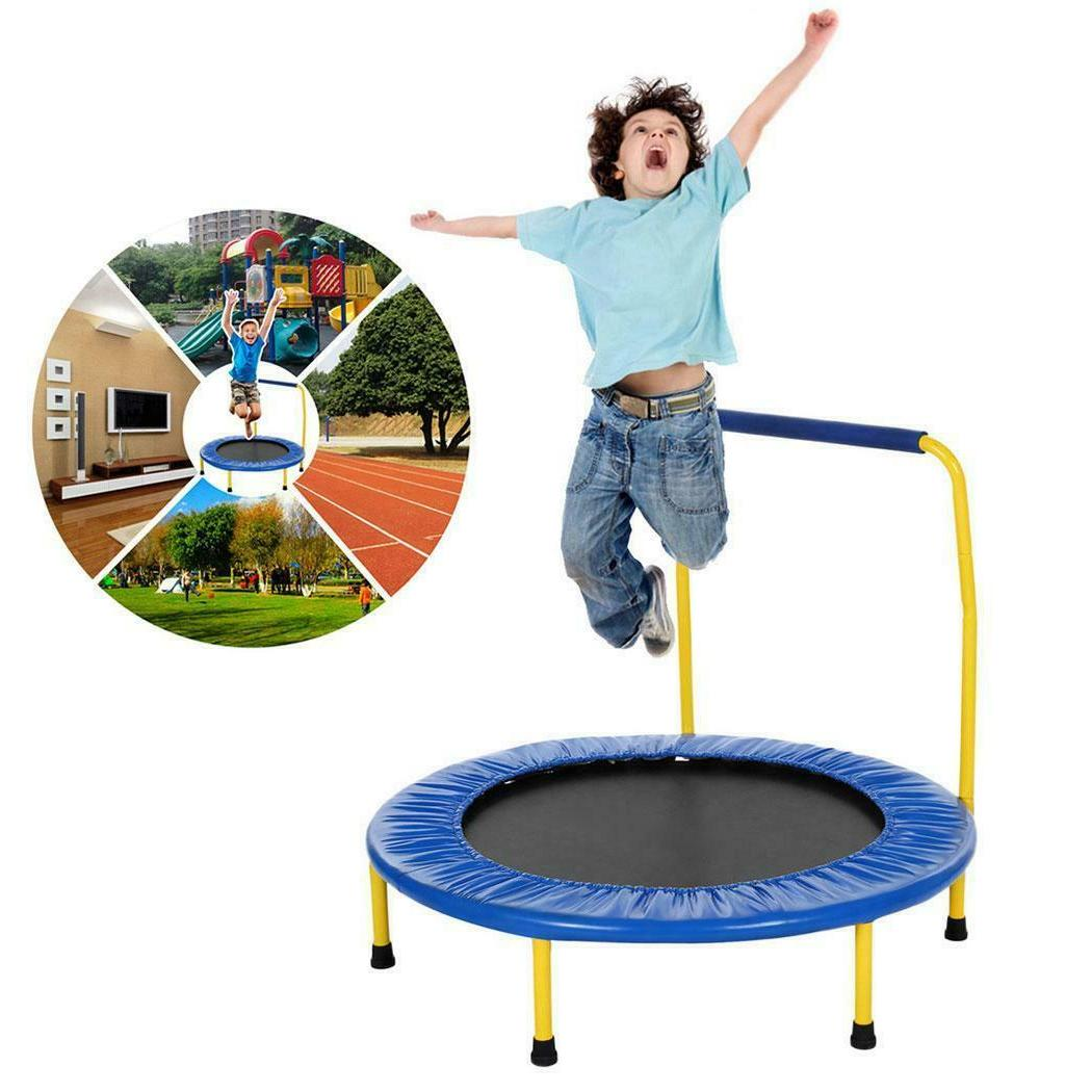 36 foldable kids trampoline with padded frame