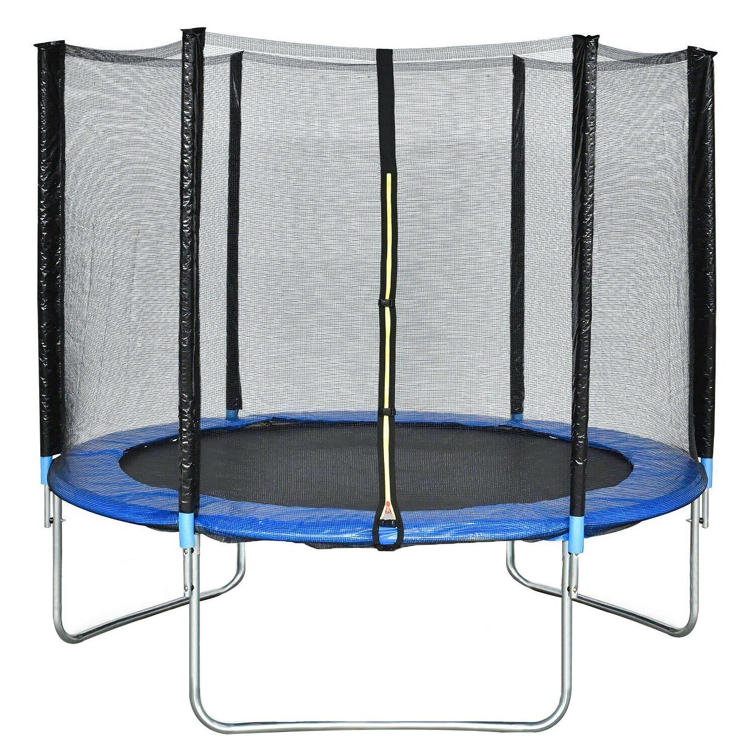 BestMassage Trampoline 10FT Round Jumping Table with Safety