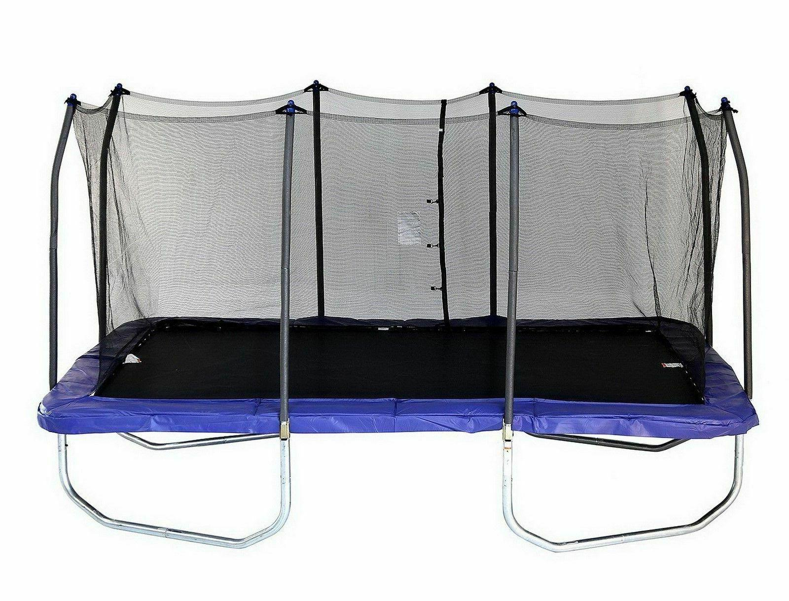 new trampolines 15 rectangle trampoline with enclosure