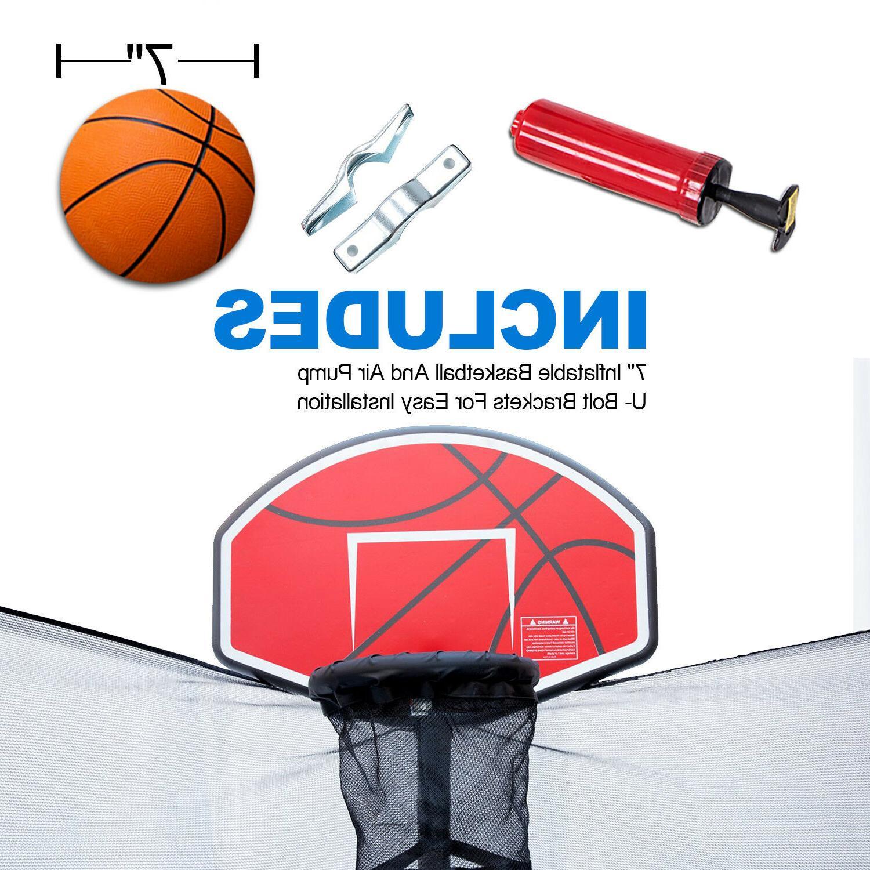 Green Trampoline Basketball Hoop Trampoline Accessory Toy Sa