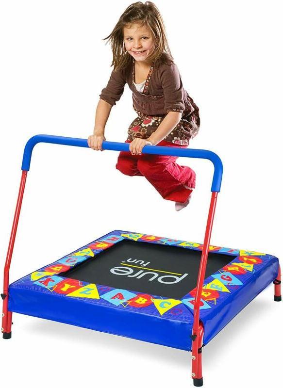 Pure Preschool Kids Trampoline With Handrail