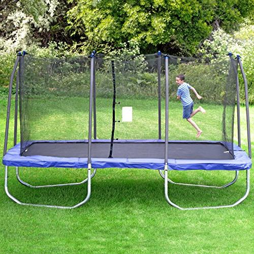 Skywalker Rectangle Trampoline with – Bounce Gymnast – Safety – ASTM – Last