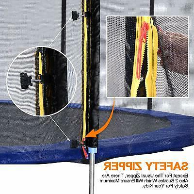 14FT Trampoline Safety Net with 6