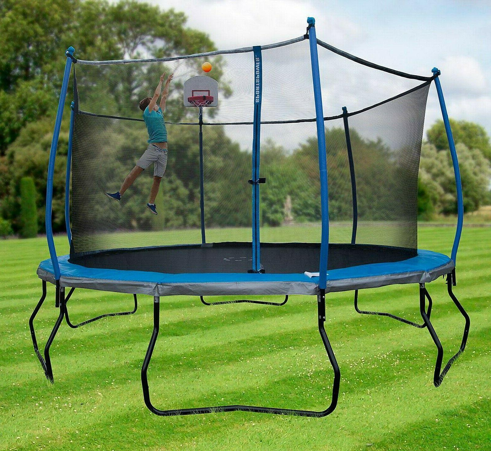 Round 14' with Basketball Goal Enclosure Pro