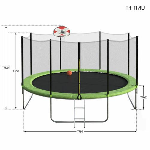Merax Trampoline And 80PC Basketball