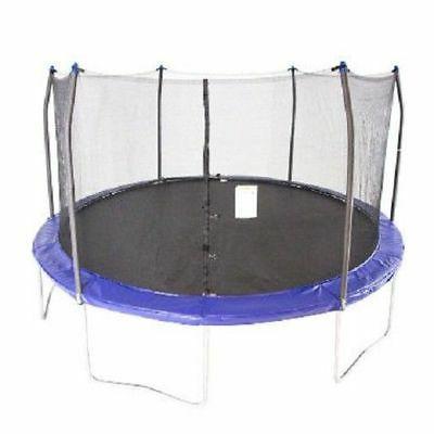 round trampoline enclosure combo