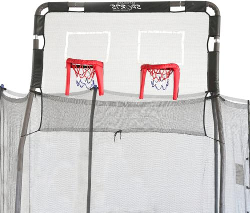skywalker trampolines 15 trampoline double basketball hoop