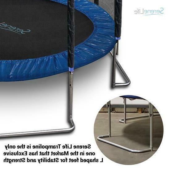 SereneLife SLTRA8BL Strong Reinforced Trampoline Net