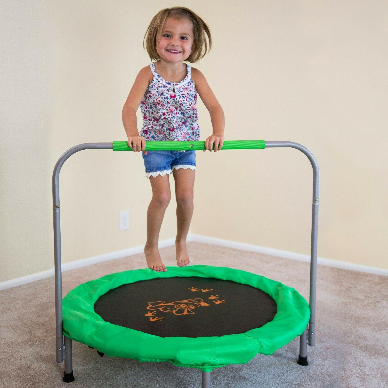 Small Trampoline Round Steel Kids Outdoor New