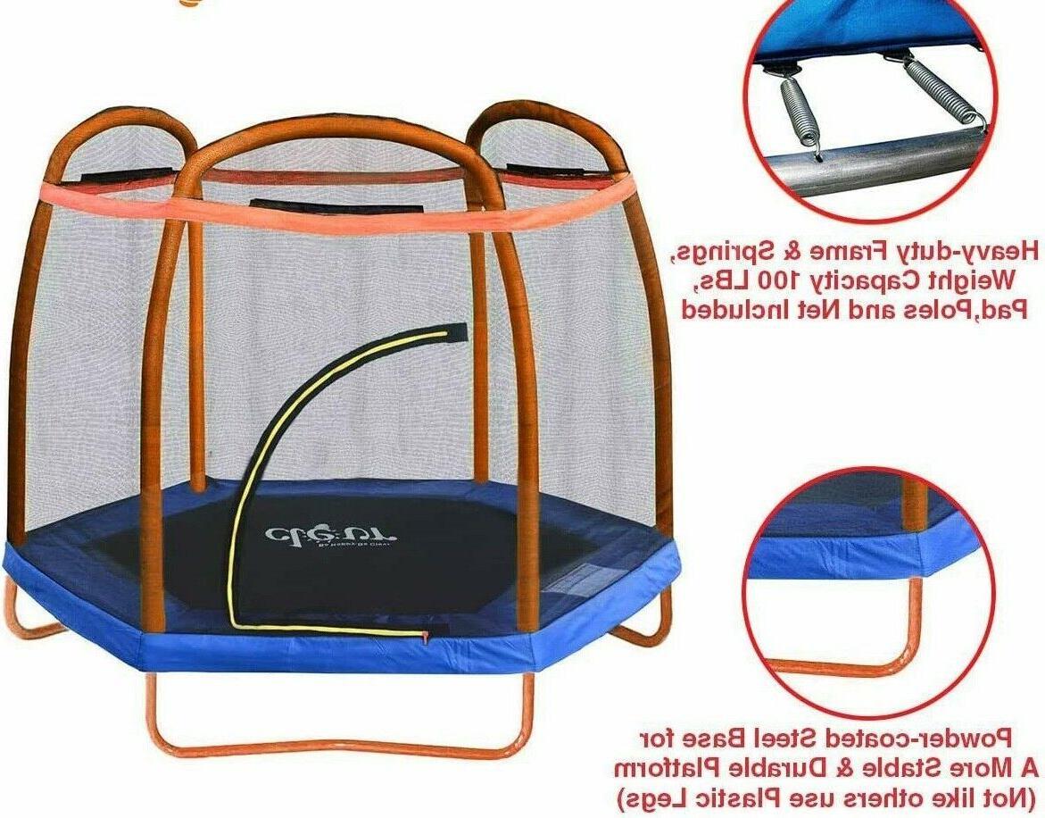 trampoline enclosure net 7 foot jump bouncer
