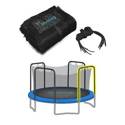 trampoline enclosure net using 4