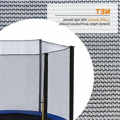 14FT Trampoline Safety with Poles