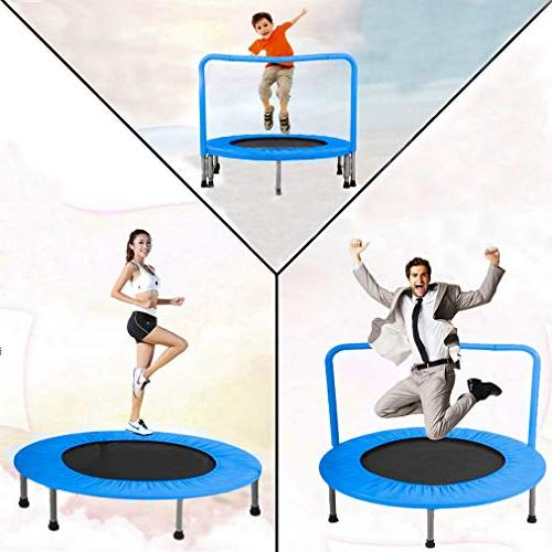 BestMassage Portable for with Handrail Padded Cover Rebounder Jumping Safe for 36 Trampoline Equipment
