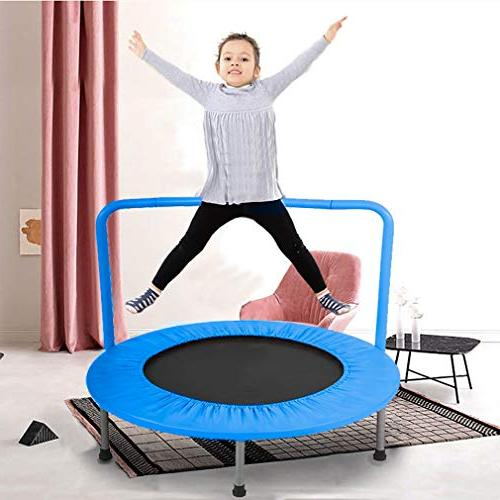 BestMassage Trampoline Portable for with Handrail and Cover Mat Safe 36 Equipment