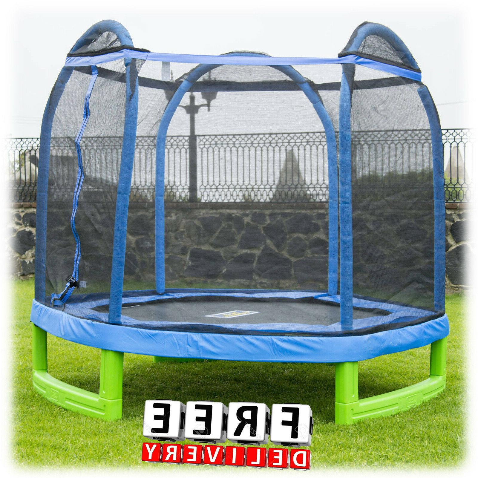Trampoline Safety Enclosure 7' Kid Child Bounce Net Jump Exe