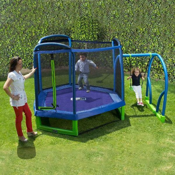 Bounce Pro My First Jump 7-Foot Trampoline And Swing Outdoor