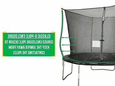 Trampoline With Safety Enclosure Outdoor Backyard Garden