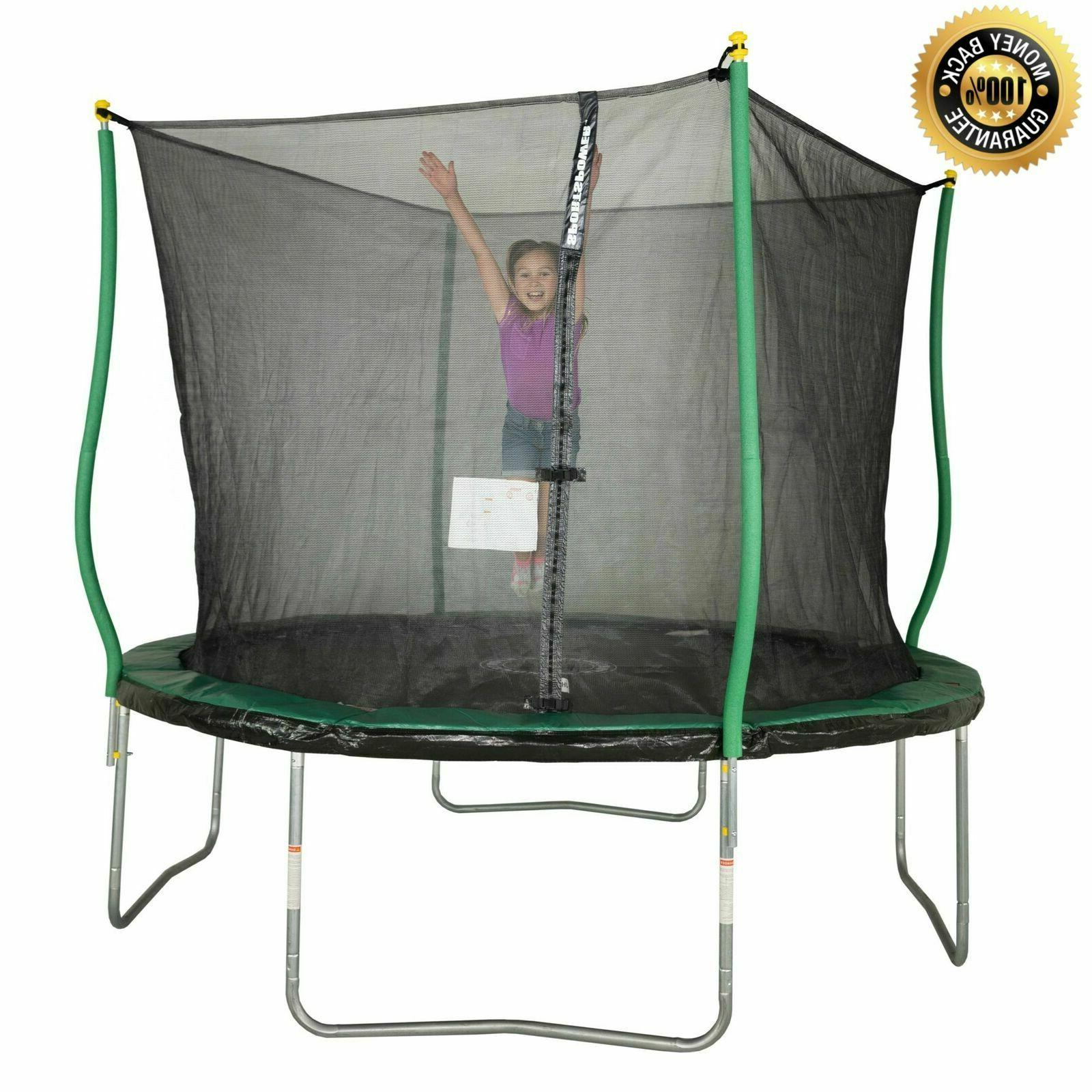 trampoline with safety net enclosure light outdoor
