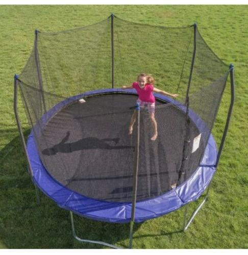 trampolines 12 12ft trampoline w safety enclosure